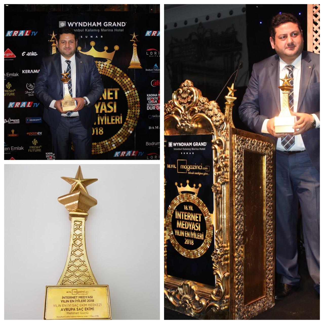 Award of Best Hair Transplant Clinic – Turkey Mayıs 2018